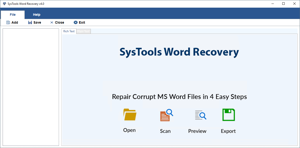 MS Word Recovery Tool to Recover & Repair Corrupt MS Word