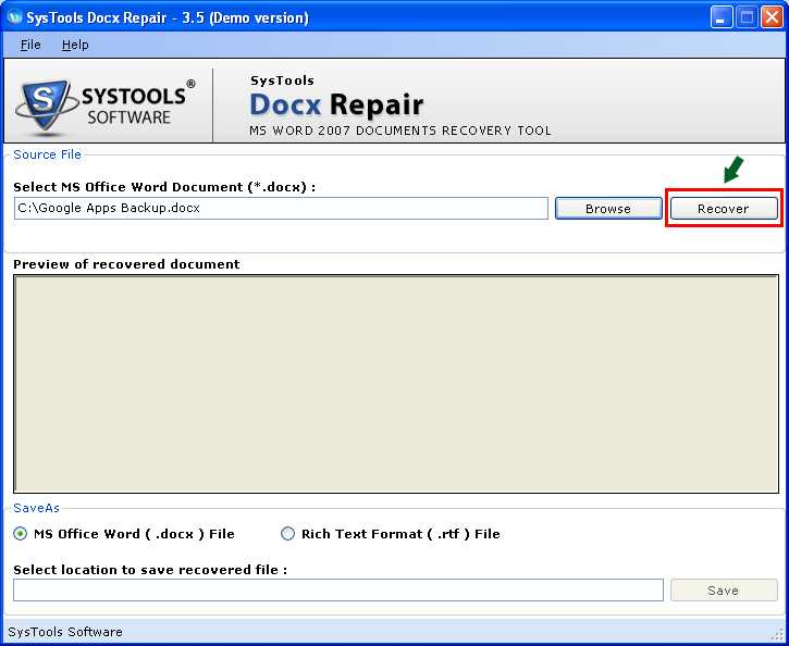 Get Free Word 2010 Recovery Tool